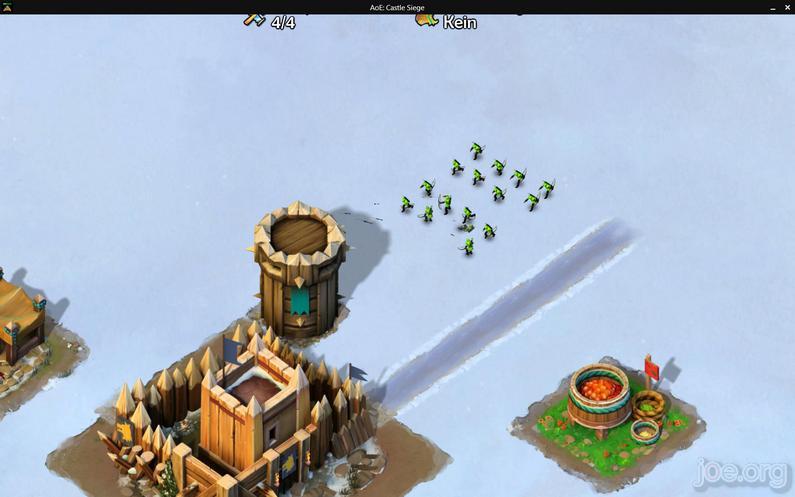 AoE Castel Siege - feindlicher Angriff