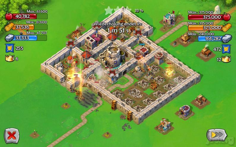 AoE Castel Siege - Schlacht